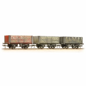 Bachmann OO 37-095A Coal Trader' Pack 7 Plank Private Owner Wagons Weathered