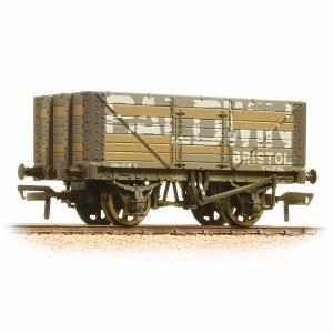 Bachmann OO 37-114 7 Plank Fixed End Wagon Baldwin Weathered
