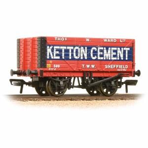 Bachmann OO 37-134B 8 Plank End Door Wagon 'Ketton Cement'
