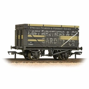 Bachmann OO 37-185A 7 Plank Wagon with Coke Rails (BR) Cory Brothers & Co Weathered