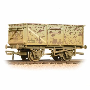 Bachmann OO 37-225J BR 16T Steel Mineral Wagon Top Flap Doors BR Grey (Early) - Weathered