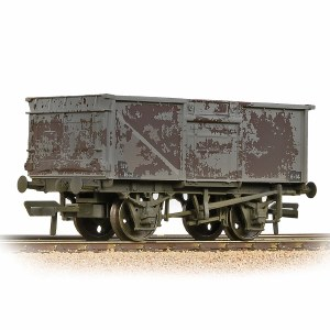 Bachmann OO 37-227B BR 16T Steel Mineral Wagon BR Grey (Late) - Weathered