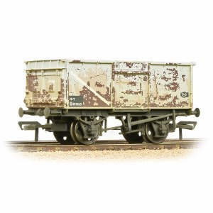 Bachmann OO 37-250J BR 16T Steel Mineral Wagon Pressed End Door BR Grey (Early) - Weathered