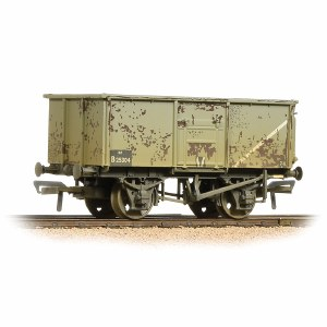 Bachmann OO 37-253B 16 Ton Steel Mineral Wagon BR Grey Weathered