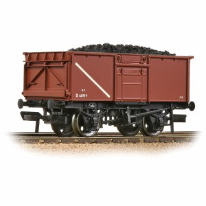 Bachmann OO 37-256A BR 16T Steel Mineral Wagon BR Bauxite (Early) - Includes Wagon Load