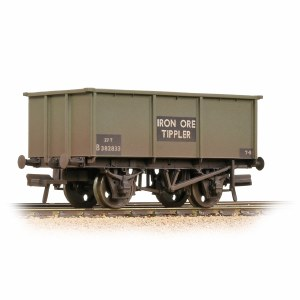Bachmann OO 37-275G BR 27T Steel Tippler BR Grey (Early) 'Iron Ore' - Weathered