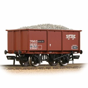 Bachmann OO 37-279A BR 27T Steel Tippler BR Bauxite (TOPS) 'Stone Traffic' - Includes Wagon Load
