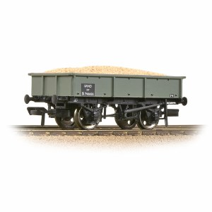 Bachmann OO 37-354D BR 13T Steel Sand Tippler BR Grey (Early) - Includes Wagon Load