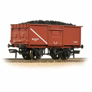 Bachmann OO 37-376D 16T Steel Mineral Wagon Pressed End Door MOT Bauxite - Includes Wagon Load
