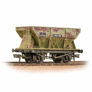 Bachmann OO 37-508A 24T Ore Hopper BR Grey (Early) - Weathered
