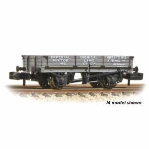 Bachmann OO 37-925A 3 Plank Wagon 'ICI Buxton Lime'