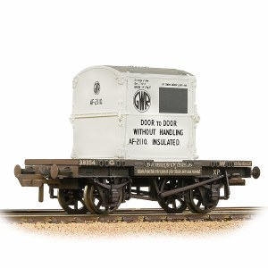 Bachmann OO 37-975B Conflat Wagon GWR Grey With 'GWR' AF Container - Weathered
