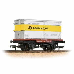 Bachmann OO 37-990 Conflat with BA Standard Container 'Speedfreight'