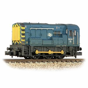 Graham Farish N 371-015D Class 08 08818 BR Blue - Weathered
