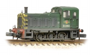 Graham Farish N 371-063 Class 03 D2383 BR Green Wasp Stripes Weathered
