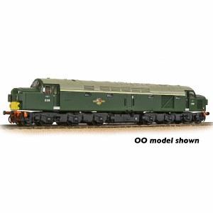 Graham Farish N 371-185 Class 40 Split Headcode D338 BR Green (Small Yellow Panels)