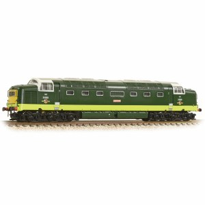 Graham Farish N 371-285A Class 55 D9009 'Alycidon' BR Two-Tone Green Small Yellow Panel