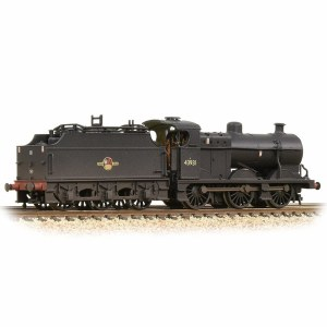 Graham Farish N 372-065 MR 3835 4F with Fowler Tender 43931 BR Black (Late Crest)  - Weathered
