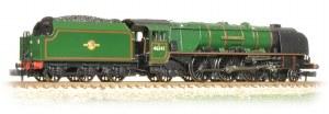 "Graham Farish N 372-182A Princess Coronation Class 46241 ""City of Edinburgh"" BR Green Late Crest"