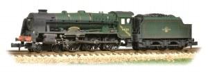 Graham Farish N 372-579 Rebuilt Royal Scot 46122 Royal Ulster Rifleman BR Green L/C Heavy Weathered