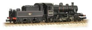 Graham Farish N 372-628 Ivatt Class 2MT 2-6-0 46443 BR Lined Black Late Crest