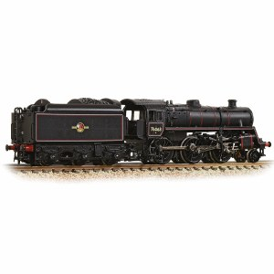 Graham Farish N 372-654 BR Standard Class 4MT 76063 BR Lined Black Late Crest