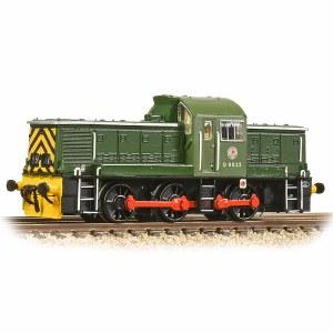 Graham Farish N 372-950A Class 14 D9522 BR Green (Wasp Stripes)