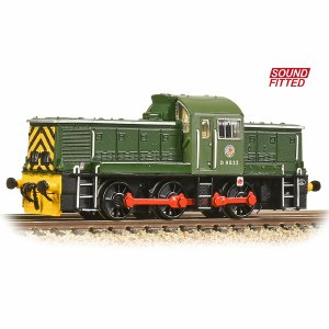 Graham Farish N 372-950ASF Class 14 D9522 BR Green (Wasp Stripes) - Sound Fitted