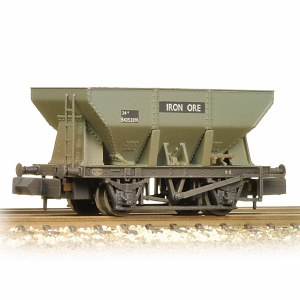 Graham Farish N 373-218A 24T Iron Ore Hopper BR Grey (Early) - Weathered