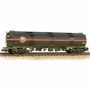 Graham Farish N 373-562 100 Ton TEA Bogie Tank Wagon 'Gulf' Black Weathered