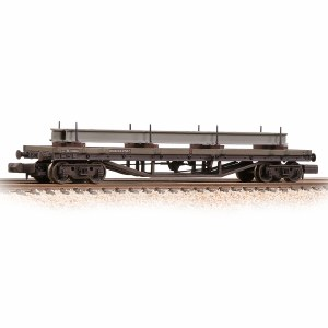 Graham Farish N 373-930 30T Bogie Bolster C BR Bauxite (Late) - Weathered
