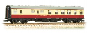 Graham Farish N 374-120A BR Mk1 RU Restaurant Car BR Crimson & cream