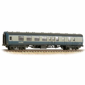 Graham Farish N 374-197 BR Mk1 BSK Brake Second Corridor BR Blue & Grey with ScotRail Branding Weathered
