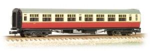 Graham Farish N 374-441 Bulleid 63ft Second Corridor BR Crimson and Cream