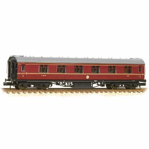Graham Farish N 374-845C Stanier First Corridor LMS Crimson Lake