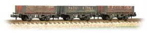 Graham Farish N 377-065 Coal Trader Triple Pack 5 Plank Wagons Weathered