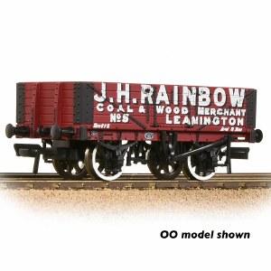 Graham Farish N 377-066 5 Plank Wagon Wooden Floor 'J. H. Rainbow' Red