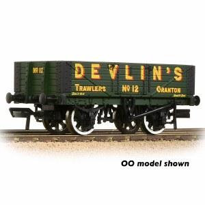 Graham Farish N 377-067 5 Plank Wagon Wooden Floor 'Devlin's Trawlers' Green
