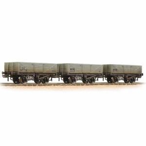 Graham Farish N 377-069 5 Plank 3-Wagon Pack BR Grey (Early) - Weathered