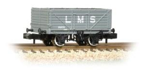 Graham Farish N 377-087 7 Plank Wagon End Door LMS Grey