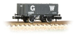 Graham Farish N 377-088 7 Plank Wagon End Door GWR Grey