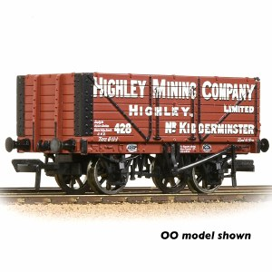 Graham Farish N 377-092 7 Plank Wagon End Door 'Highley Mining Company Ltd.' Red