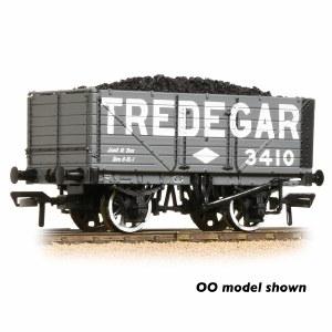 Graham Farish N 377-093 7 Plank Wagon End Door 'Tredegar' Grey - Includes Wagon Load