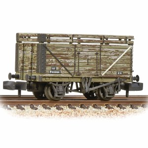 Graham Farish N 377-207 8 Plank Wagon with Coke Rails BR Grey