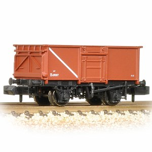 Graham Farish N 377-226B 16 Ton Steel Mineral Wagon With Top Flap Doors BR Bauxite