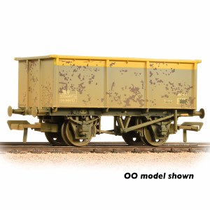 Graham Farish N 377-281 27 Ton ZKV Steel Tippler Wagon BR Grey & Yellow Weathered