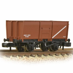 Graham Farish N 377-451C 16T Steel Slope-Sided Mineral Wagon MOT Bauxite