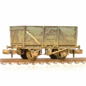 Graham Farish N 377-453 16T Steel Slope-Sided Mineral Wagon BR Grey (Early) - Weathered