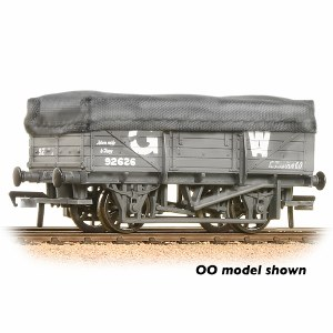 Graham Farish N 377-475 5 Plank China Clay Wagon GWR Grey With Tarpaulin Cover - Weathered