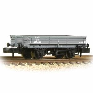 Graham Farish N 377-502B 3 Plank Wagon LMS Grey